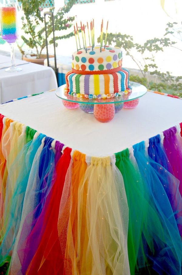 Tulle Skirted Party Table.