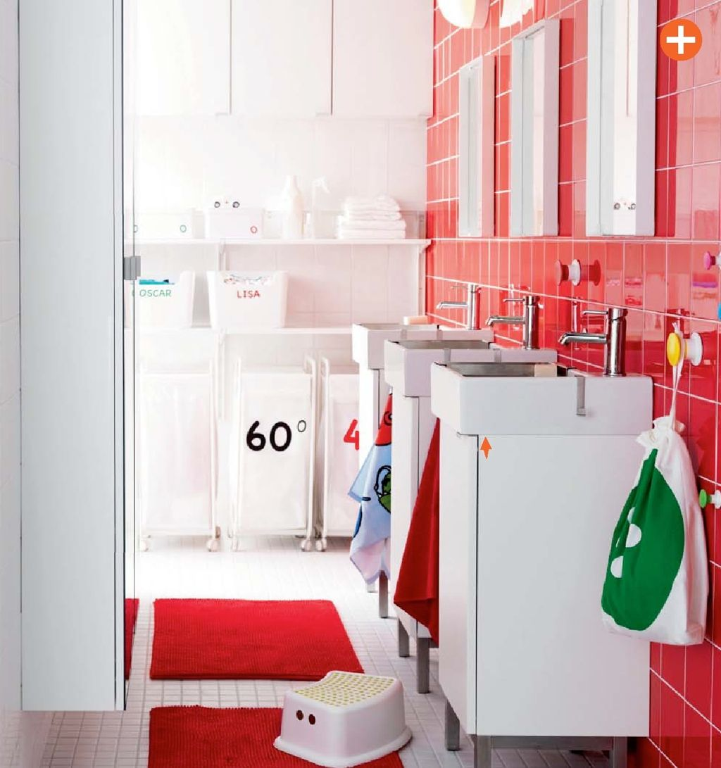 Cherry red and white. 30 Bathroom Color Schemes You Never Knew You Wanted
