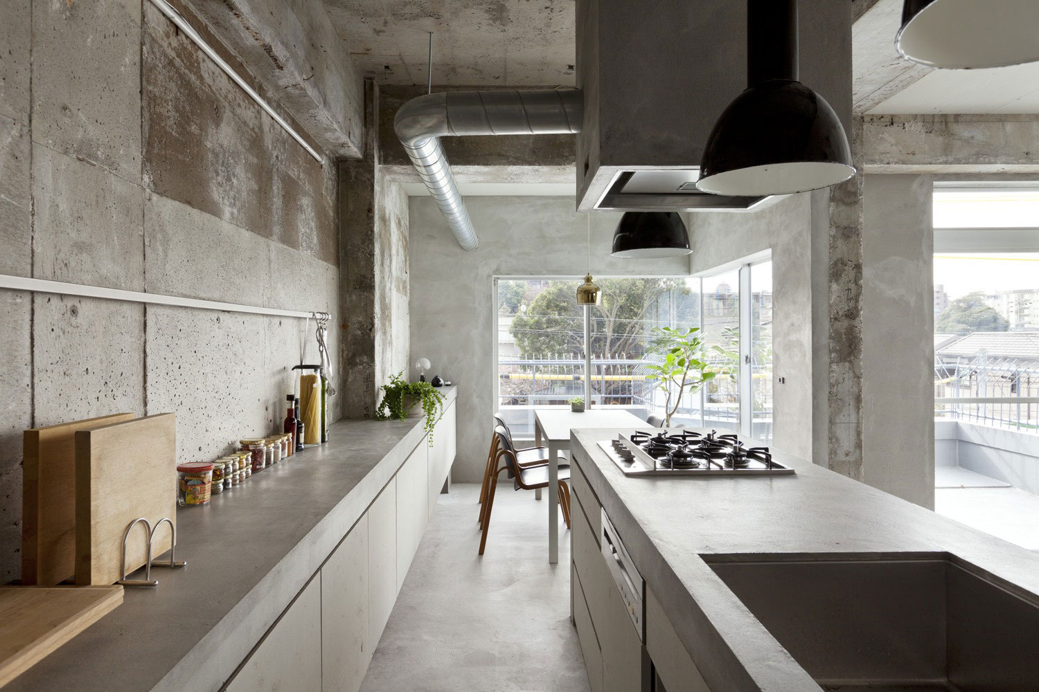 Renovation in jiyugaoka kitchen storage