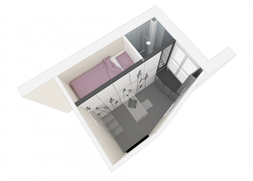 Merveilleux Tiny Apartment In Paris Plan1