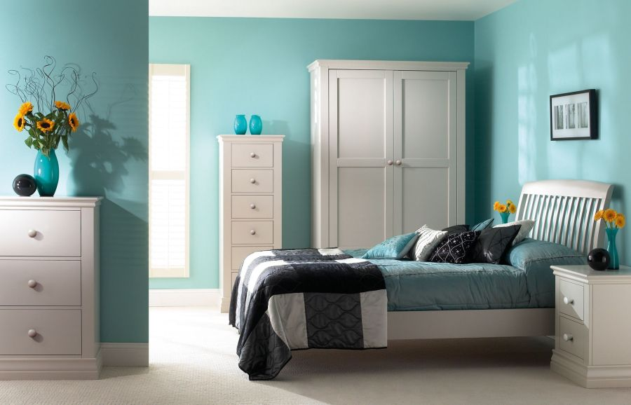 Bedroom Color Ideas For White Furniture Part - 28: 1. Turquoise.