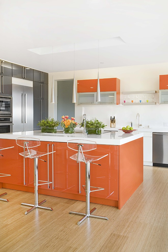 Colors For A Kitchen a rainbow of monochromatic colors: 20 décor one-color wonders