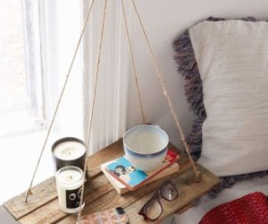 DIY Rope Mirror · Flexible Ways To Decorate With Hanging Shelves