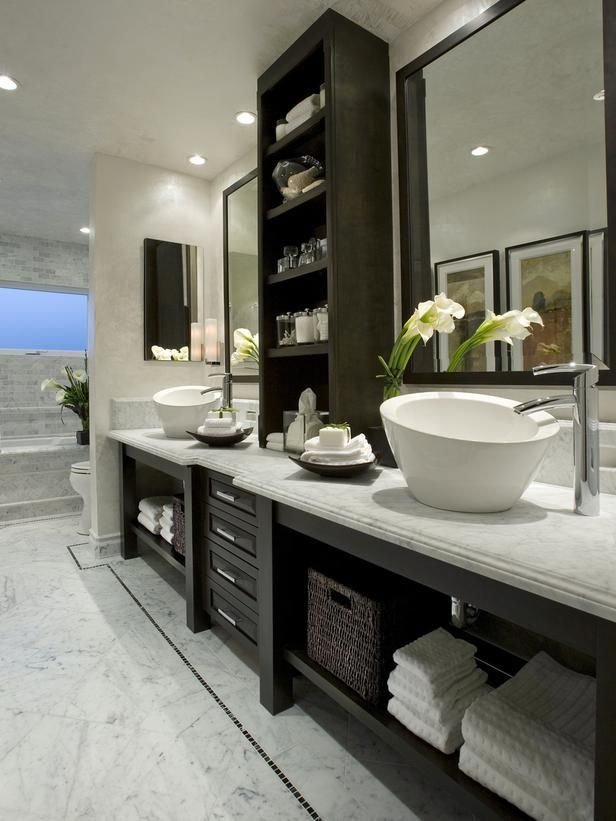 black and grey - Bathroom Remodel Color Schemes
