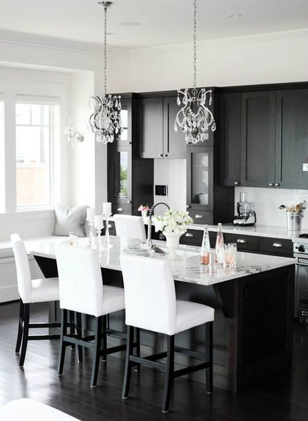 Black And White Kitchen Ideas. Classic Black And White. White Kitchen Ideas  E