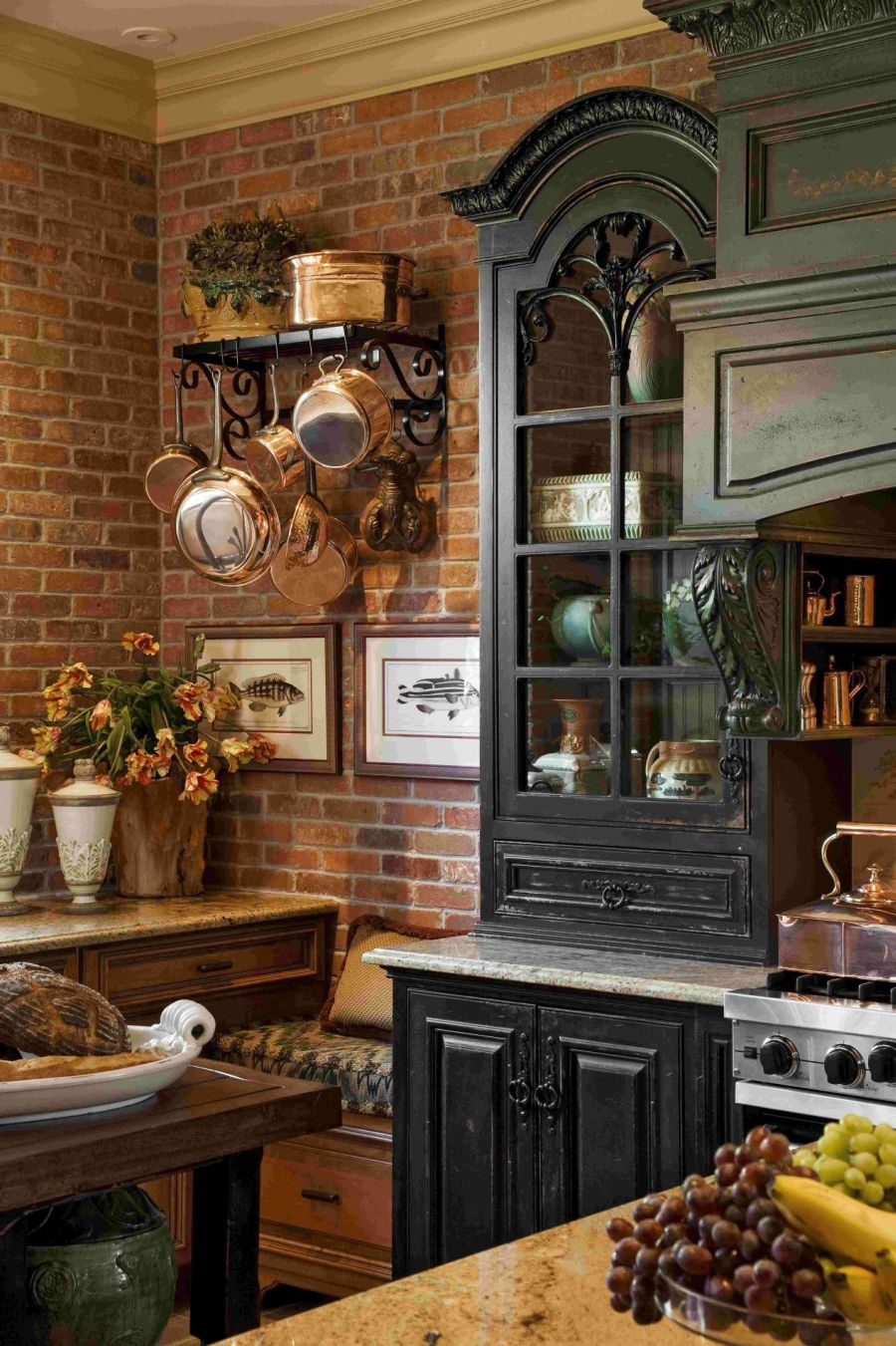20 Ways to Create a French Country Kitchen Kitchen Cabinets With Brick Moulding on interior design with moulding, doors with moulding, bathroom with moulding,