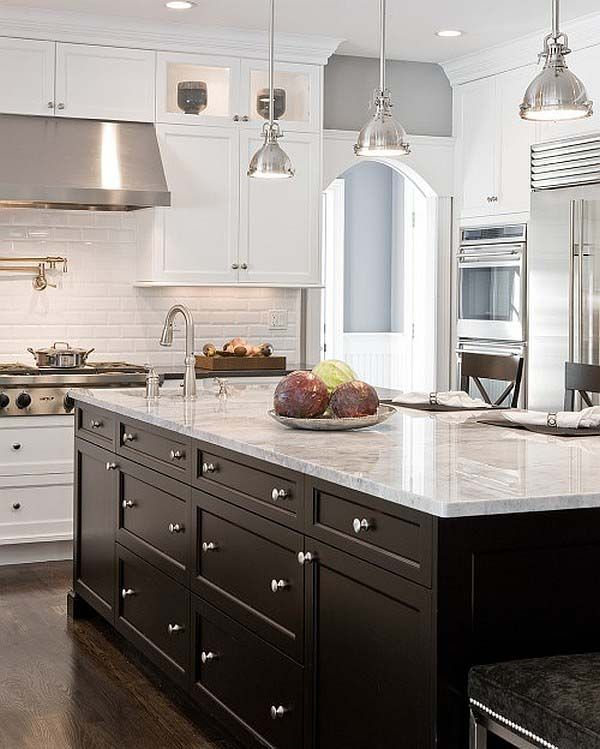 one color fits most black kitchen cabinets rh homedit com what color to paint a kitchen with dark wood cabinets