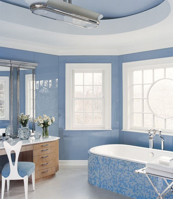 coastal blue and white - Bathroom Tiles Color Combination