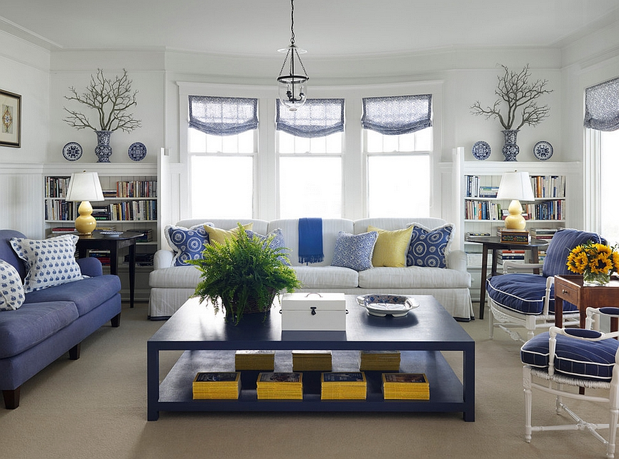 Grey White And Yellow Living Room 20 of the best colors to pair with blue