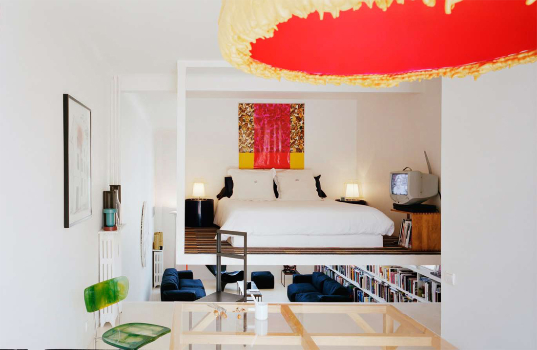 Very Small Apartment Design Incorporate splashes of bright color.
