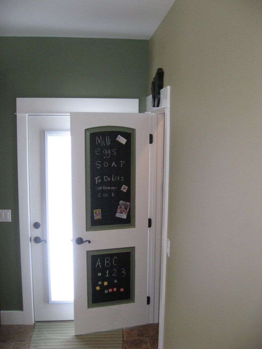 A diversity of door styles to hide your pantry with magnetic and chalkboard paint makeover vtopaller Image collections