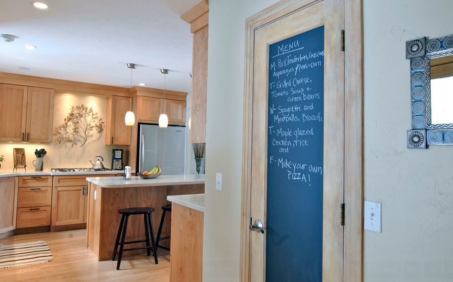 Chalkboard Door In Kitchen