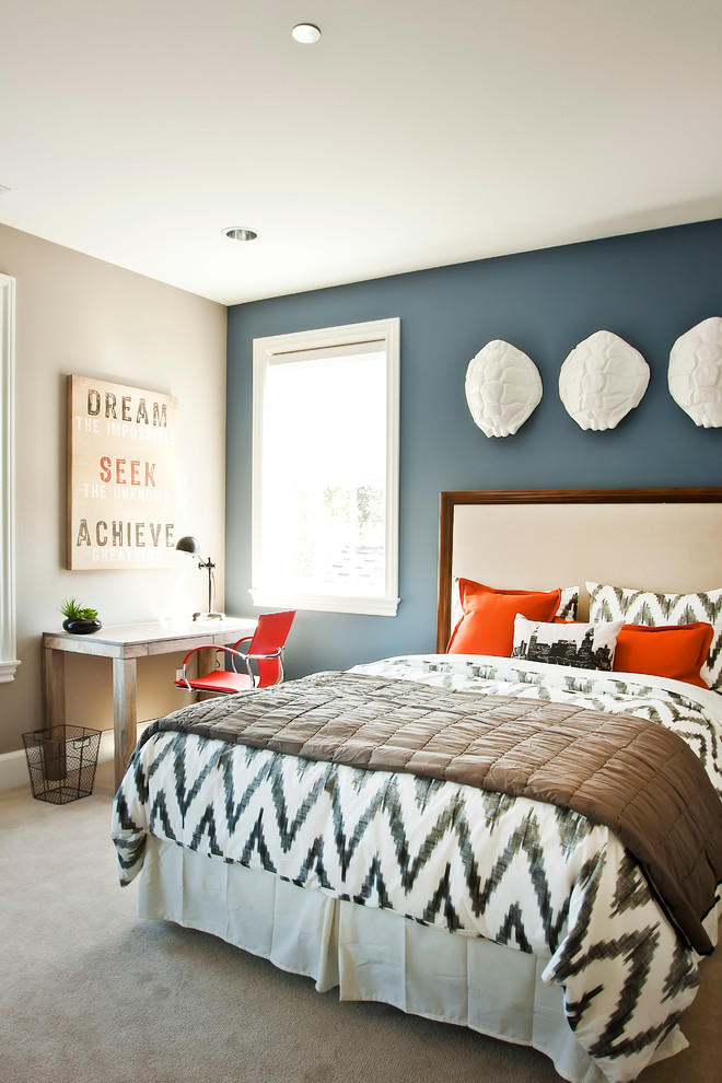 Lovely Bedroom Headboard Accent Wall.