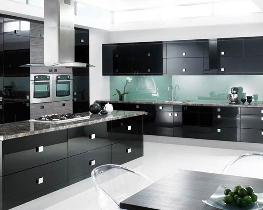 Modern White And Black Kitchens one color fits most: black kitchen cabinets