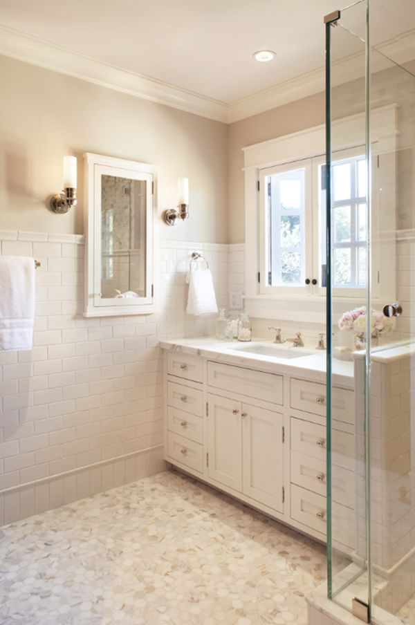 Cream and white. 30 Bathroom Color Schemes You Never Knew You Wanted