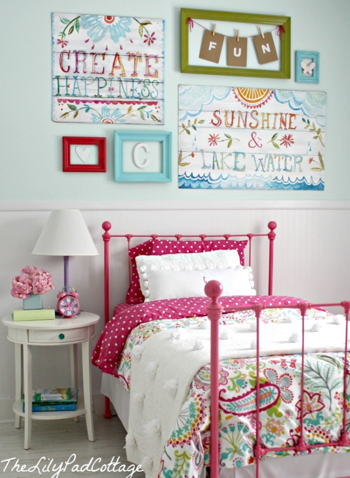 Cute bedroom design ideas for kids and playful spirits for Cuartos decorados kawaii