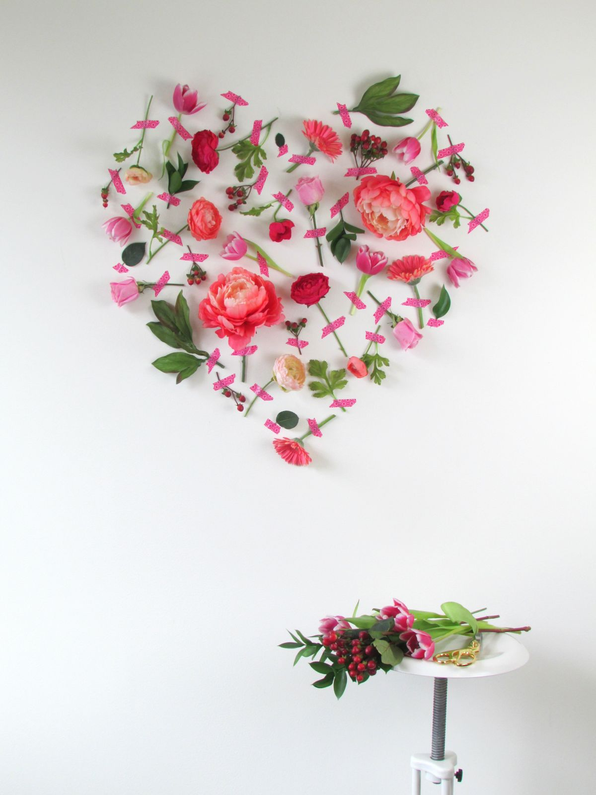 Valentine\'s Day Flower Wall Art