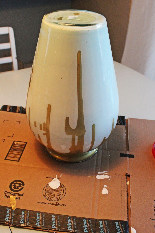 Diy paint drip milk glass vase step 8 let it dry reviewsmspy