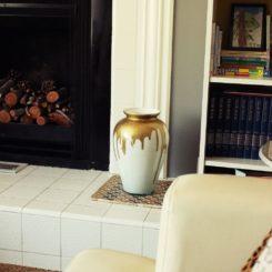 DIY Paint Drip U0026 Milk Glass Vase