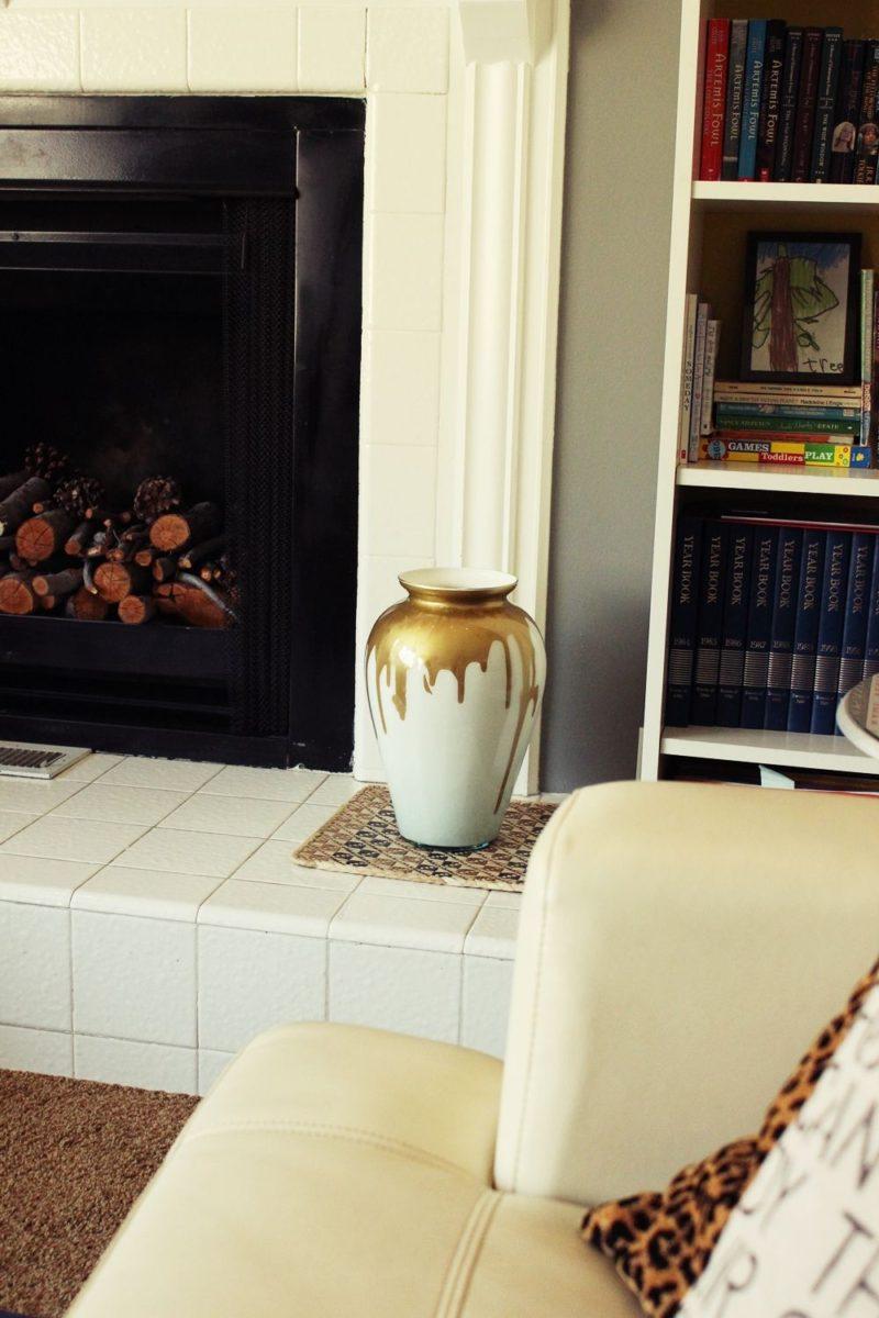 DIY漆滴水和牛奶玻璃花瓶