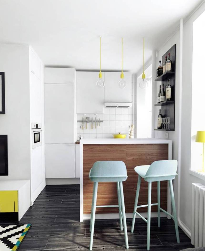 How to be a pro at small apartment decorating for Tiny apartment kitchen solutions