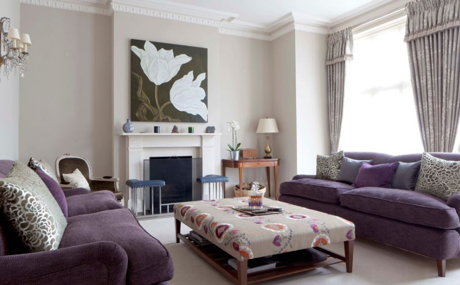 Gentil How To Match A Purple Sofa To Your Living Room Décor