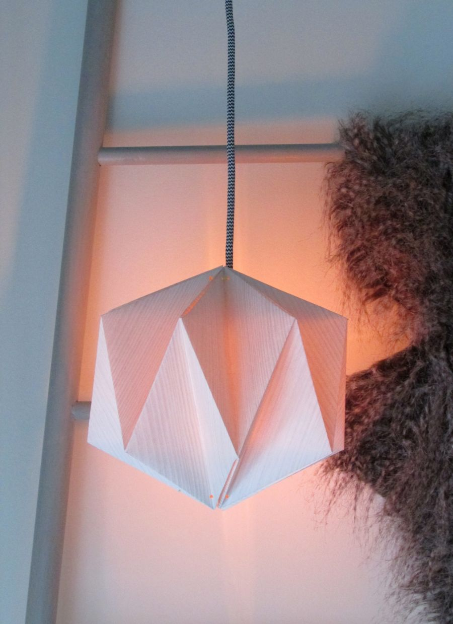 Origami lampshade made from wallpaper aloadofball Images