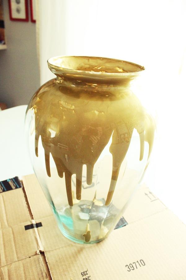 Diy Paint Drip Amp Milk Glass Vase