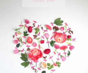 DIY Valentine's Day Flower Wall Art