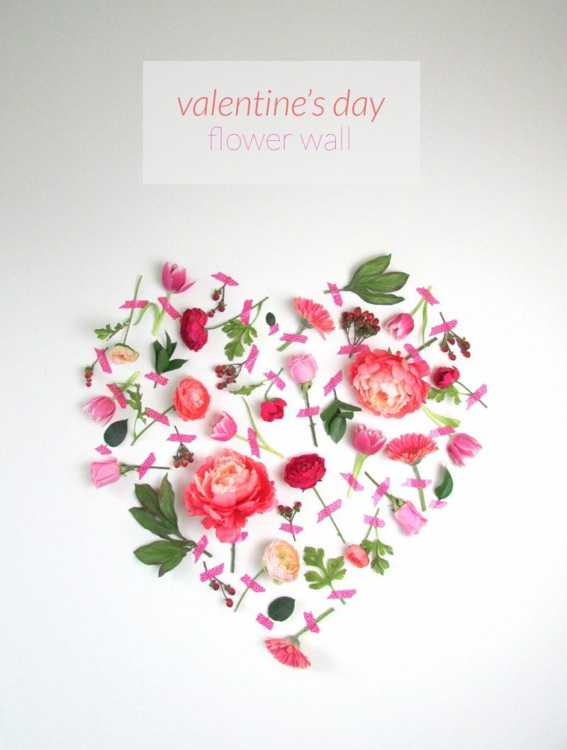 DIY Valentine's Day Flower Wall Art