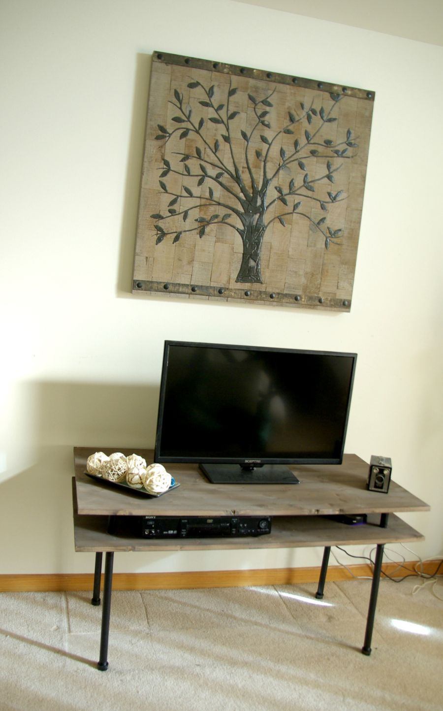 Diy Tv Stand A Blend Of Industrial Rustic And Modern
