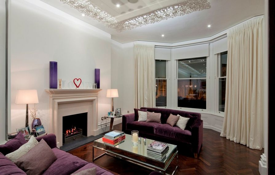 modern brown living room.  How To Match A Purple Sofa Your Living Room D cor