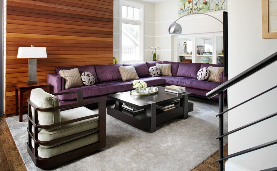 accent furniture for living room. View in gallery How To Match A Purple Sofa Your Living Room D cor