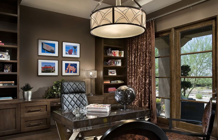 What your home office lighting reveals about your style for Large home office
