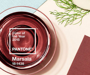 Decorating with Pantone's 2015 Color of the Year: Marsala