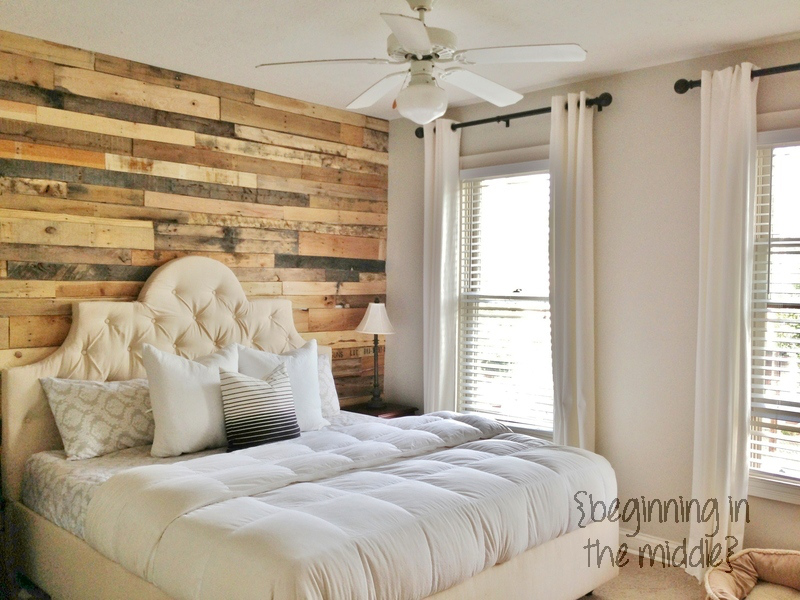 accent wall with wood pallets - Accent Wall Design Ideas