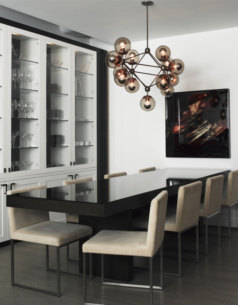 10 modern globe chandeliers and pendant lights for Contemporary dining room pictures
