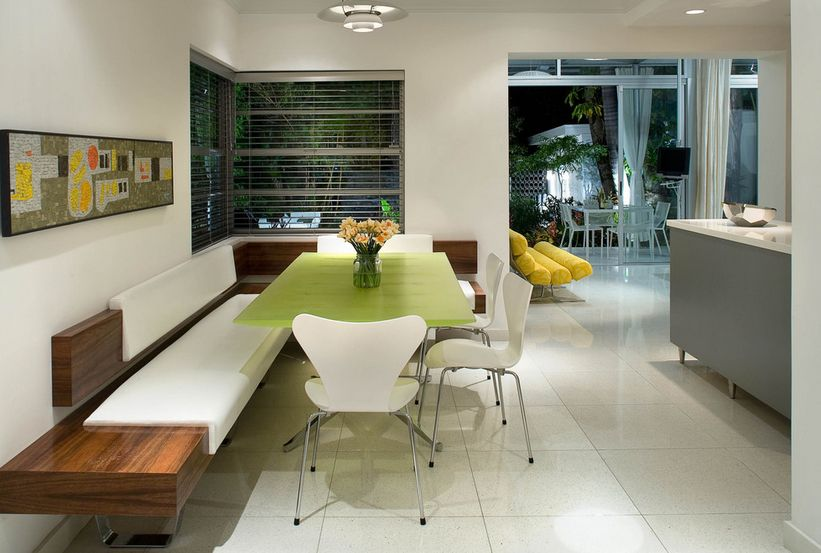 Modern kitchens ask for functionality in a minimalist shell. - Ways Of Integrating Corner Kitchen Tables In Your Décor