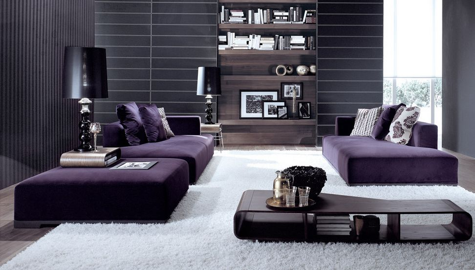 How to match a purple sofa to your living room d cor Purple living room decor