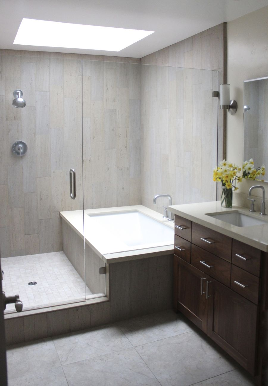 modern tub shower