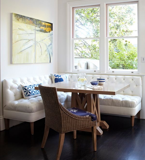 Create a comfortable nook with tufted seats. : kitchen sectional - Sectionals, Sofas & Couches