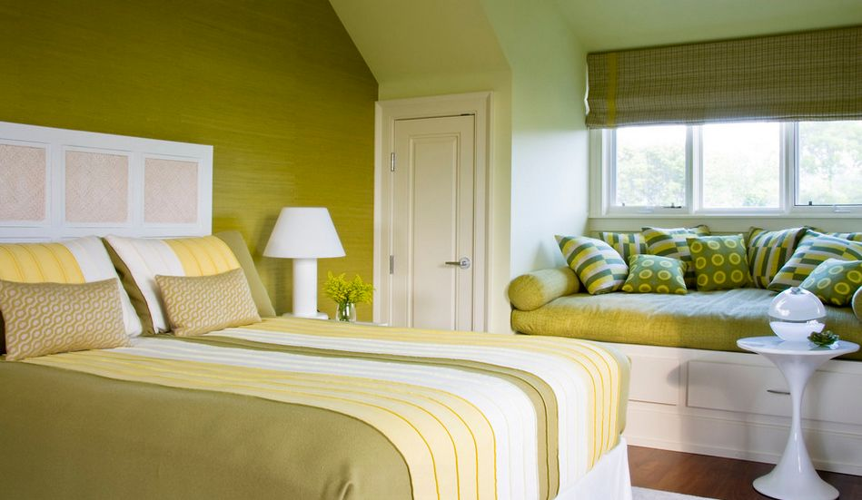 Appealing Pale Yellow Bedroom