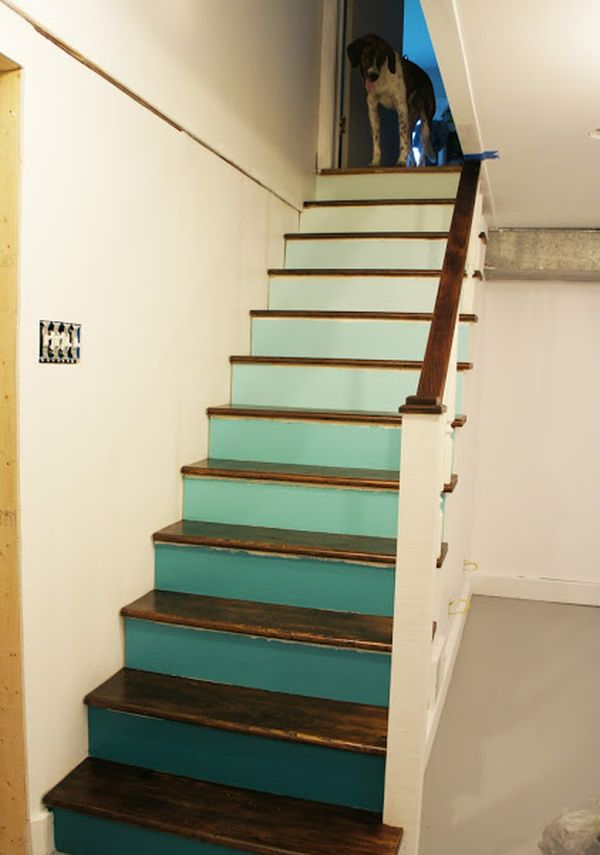 Decorative stair risers with designs for all tastes for Painted stair treads