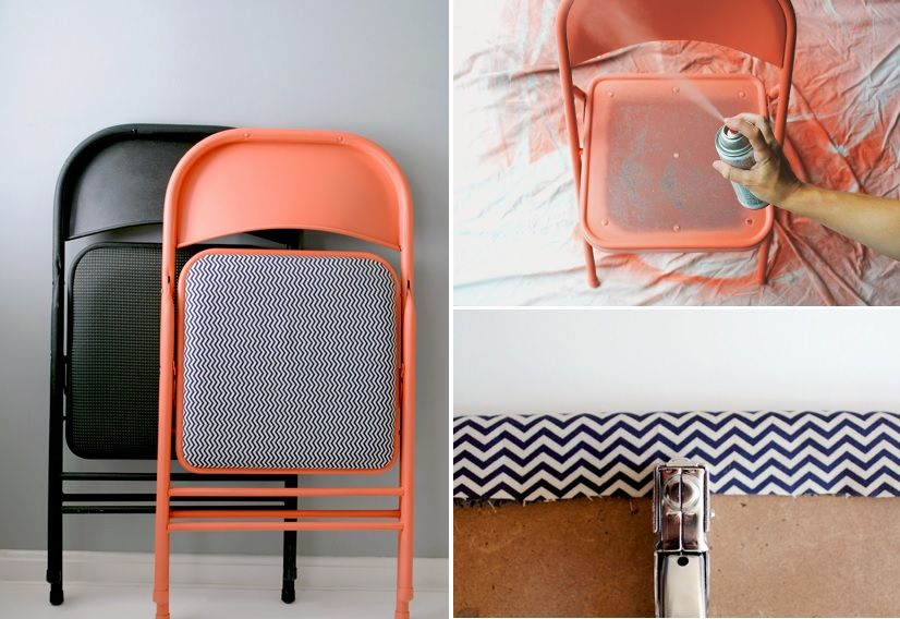 give your folding chairs a makeover
