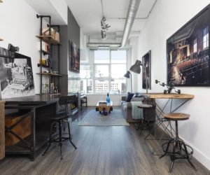 Outdated Toronto Loft Gets Modernized With Industrial Touches
