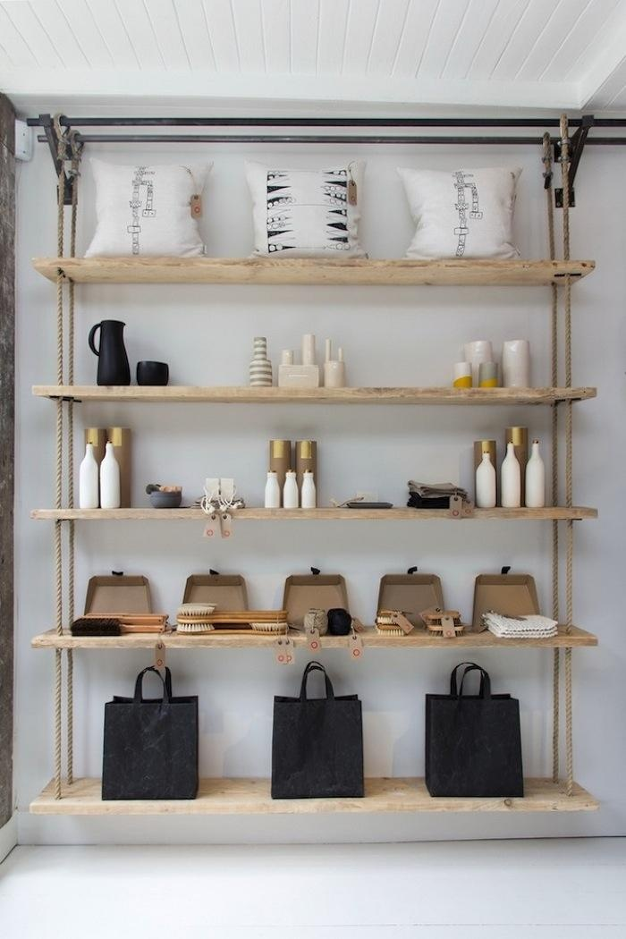 View in gallery. A set of hanging shelves ...