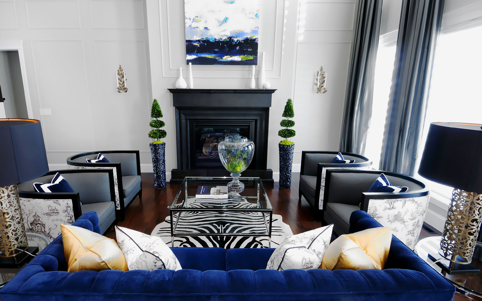 blue black and white living room 20 of the best colors to pair with black or white 25964