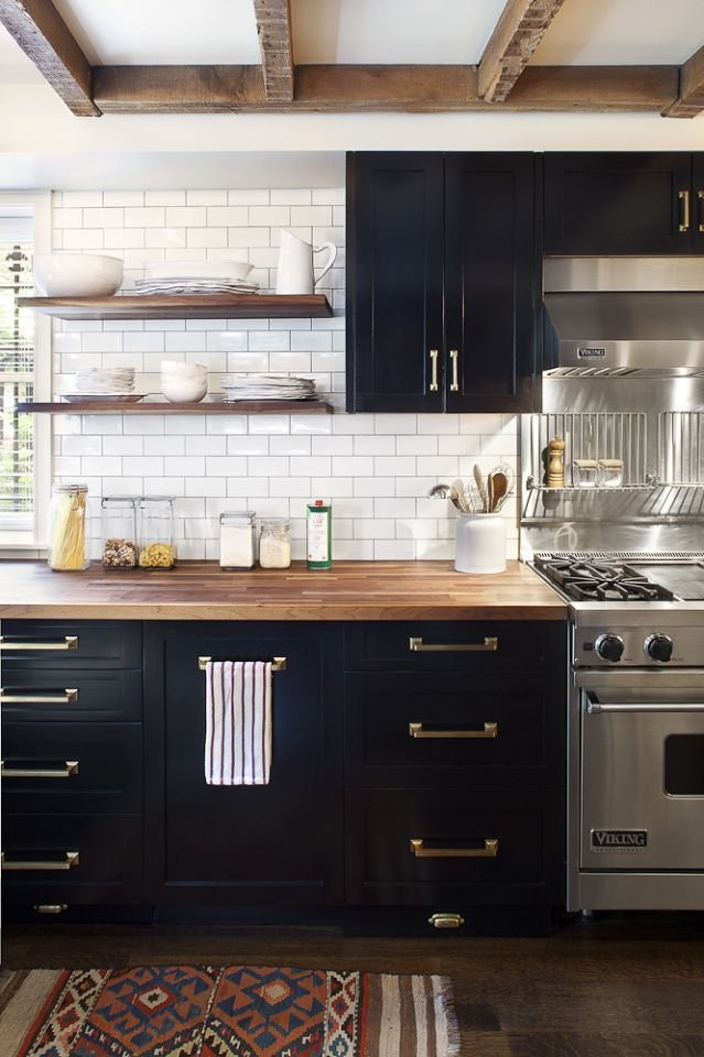 one color fits most black kitchen cabinets rh homedit com