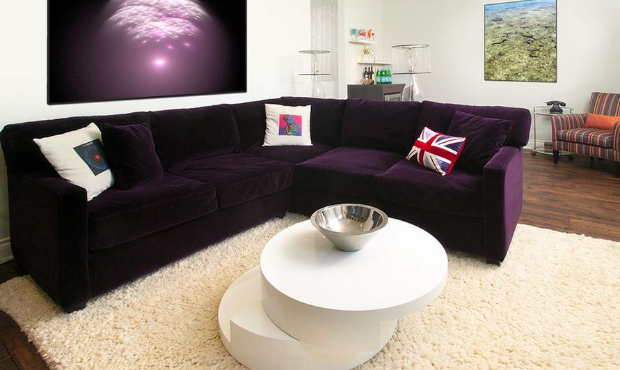How To Match A Purple Sofa Your Living Room Decor