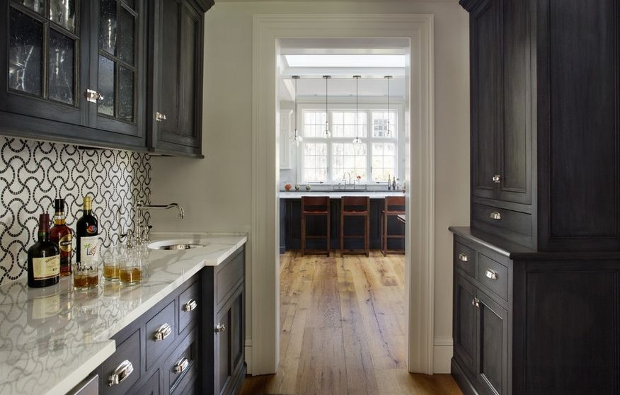 Black and Marble  One Color Fits Most Kitchen Cabinets